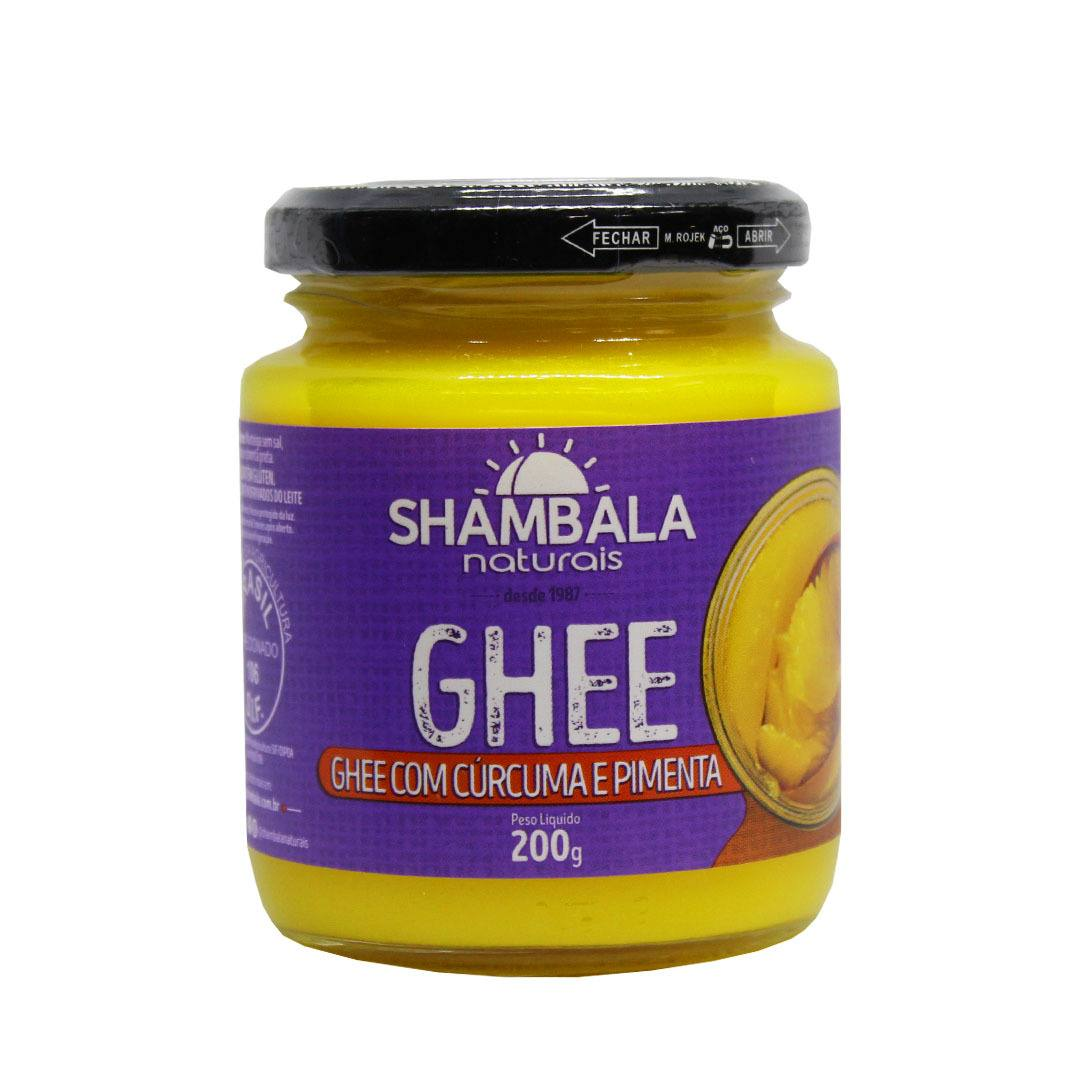 Manteiga Ghee com Cúrcuma e Pimenta - Shambala 200g