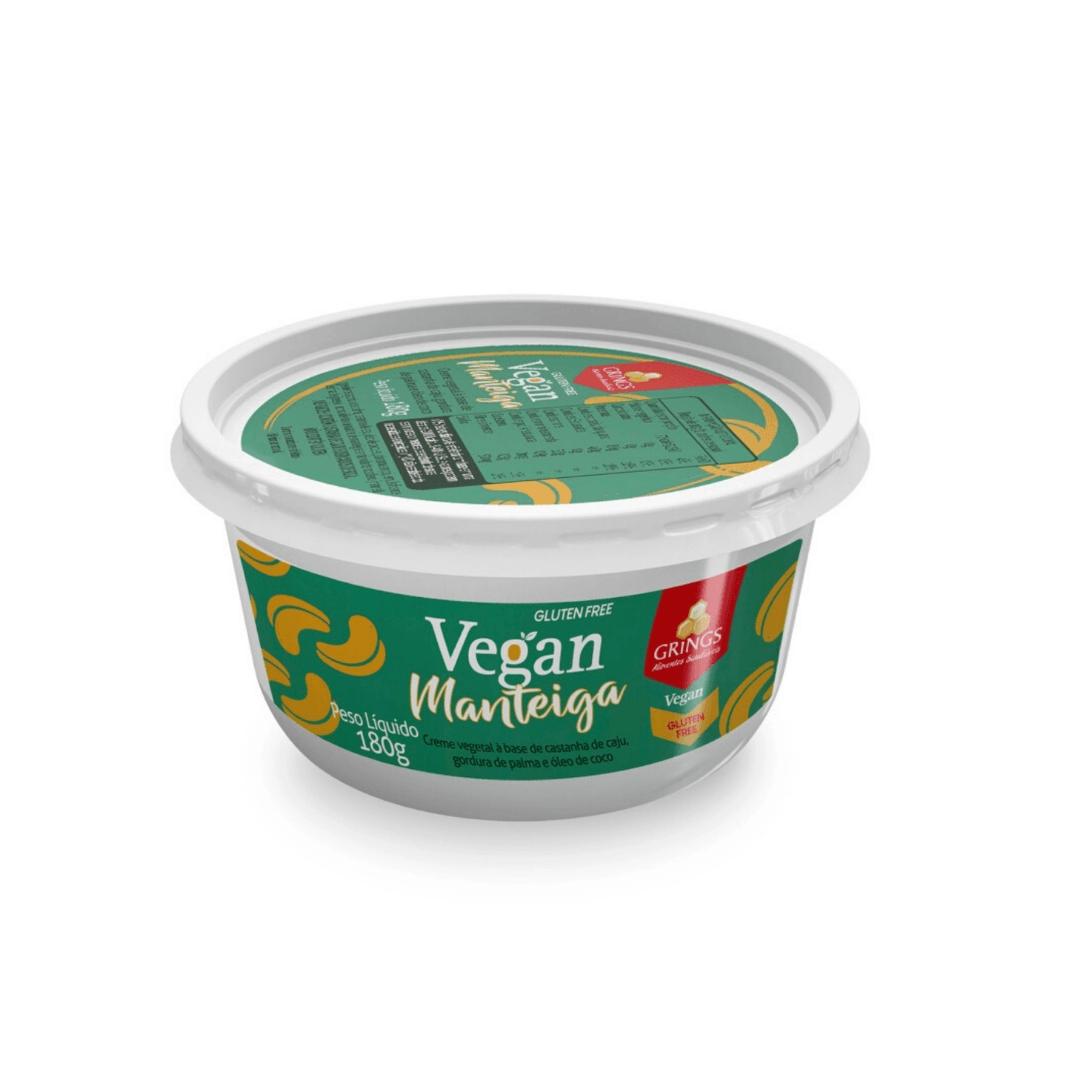 Manteiga Vegana Com Sal Grings 180g