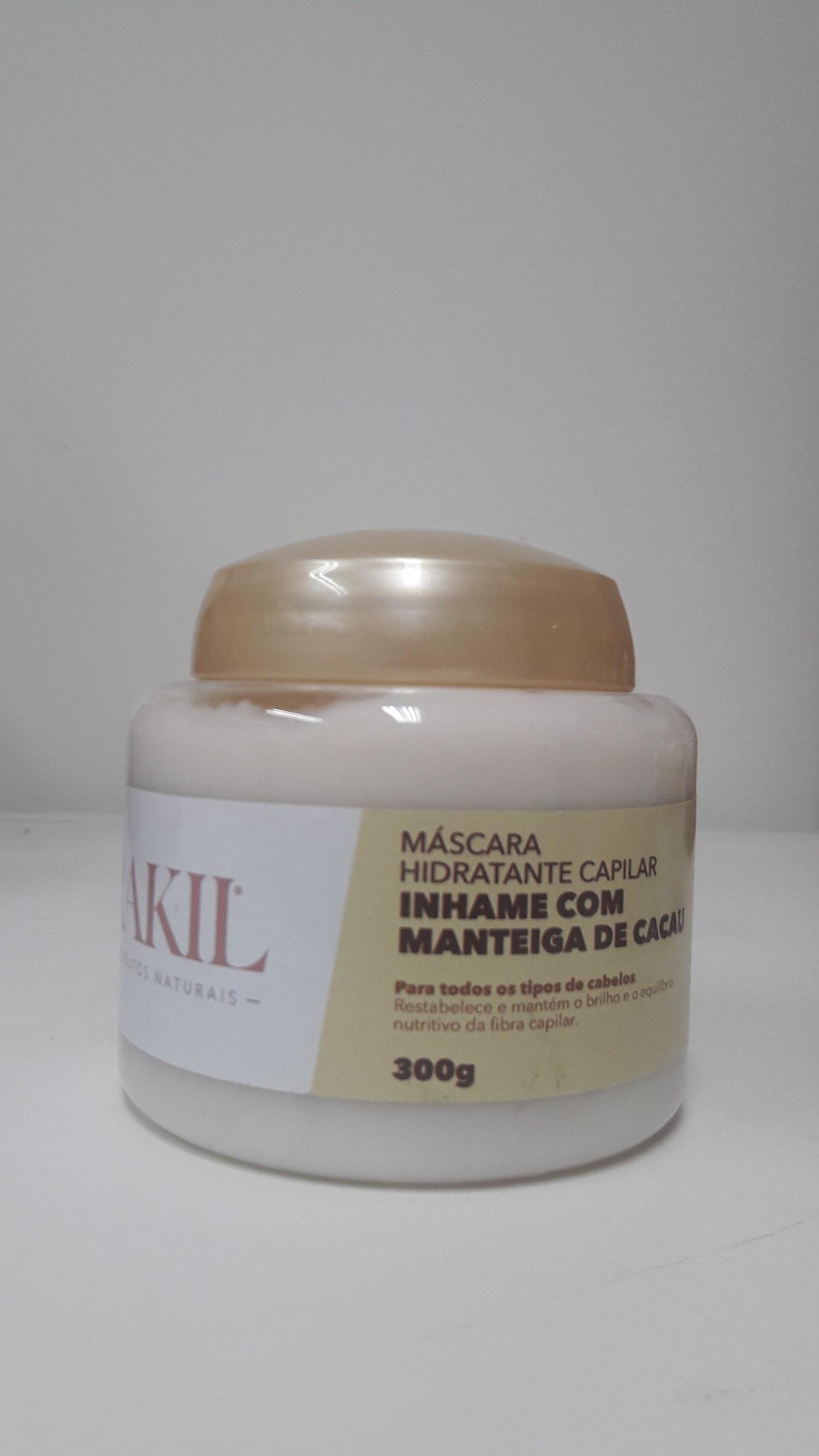 MÁSCARA HIDRATANTE CAPILAR INHAME COM MANTEIGA DE CACAU 300 g