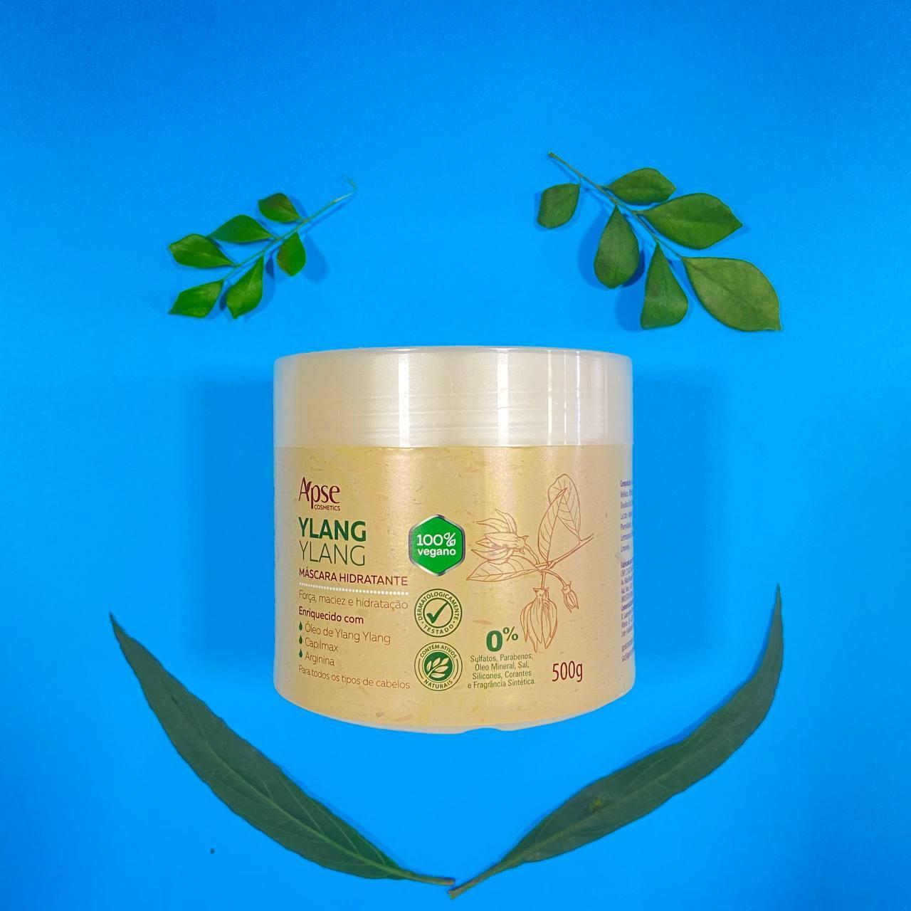 Máscara Hidratante Ylang Ylang - Apse Cosmetics 500g