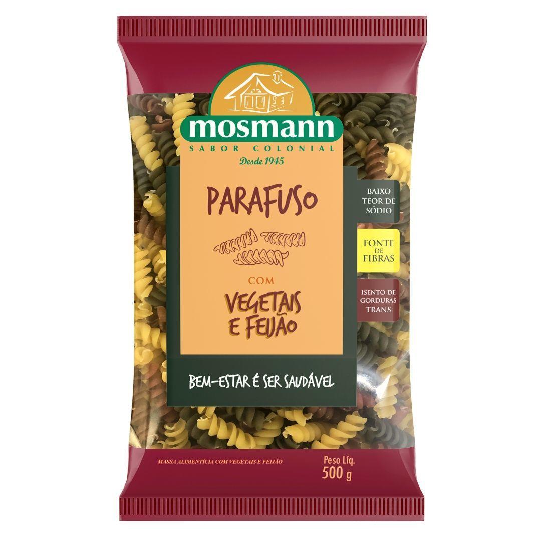 Massa Parafuso com Vegetais e Feijão 500g -  Mosmann