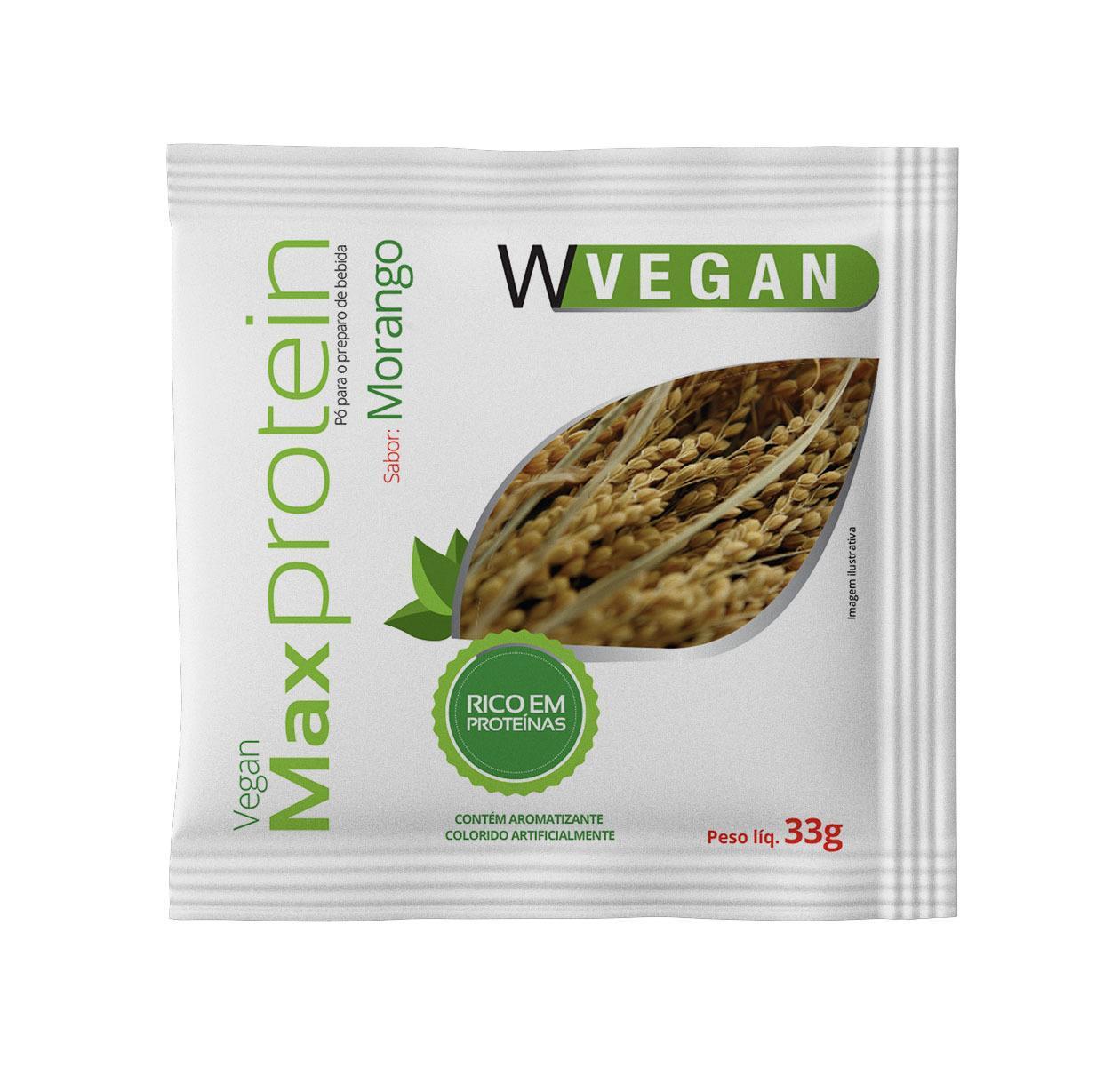 Max Protein 33g Sache Morango WVegan
