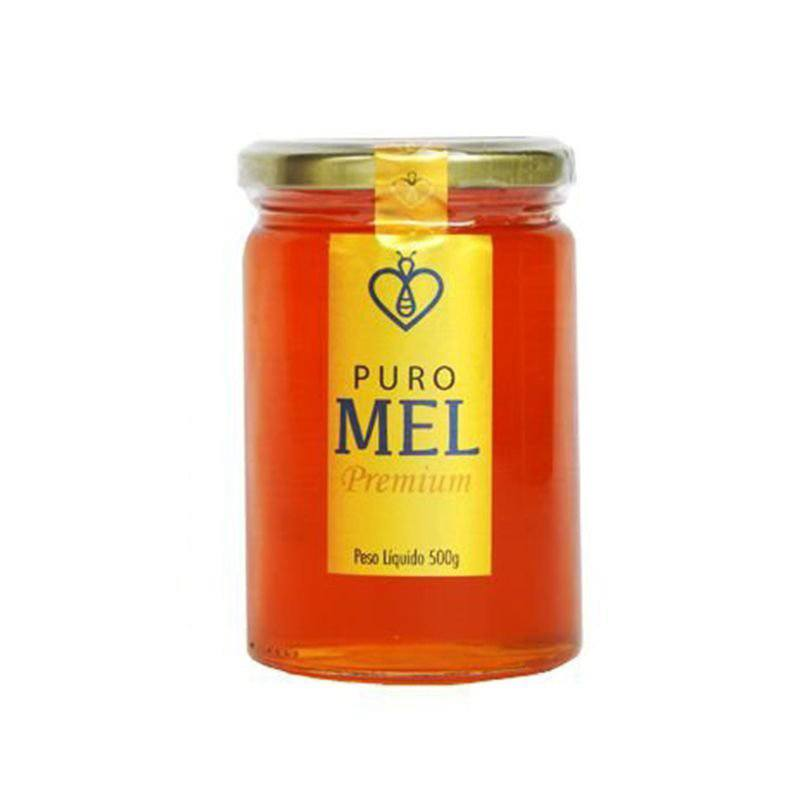 "Mel Puro Premium 500g Florada Silvestre ""Blend"" Fino de mesa HerboMel Natural"
