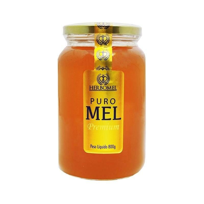 "Mel Puro Premium 800g Florada Silvestre ""Blend"" Fino de mesa HerboMel Natural"