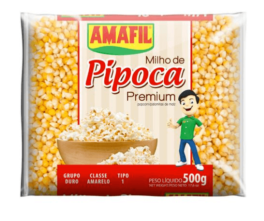 Milho de pipoca premium Amafil 500g