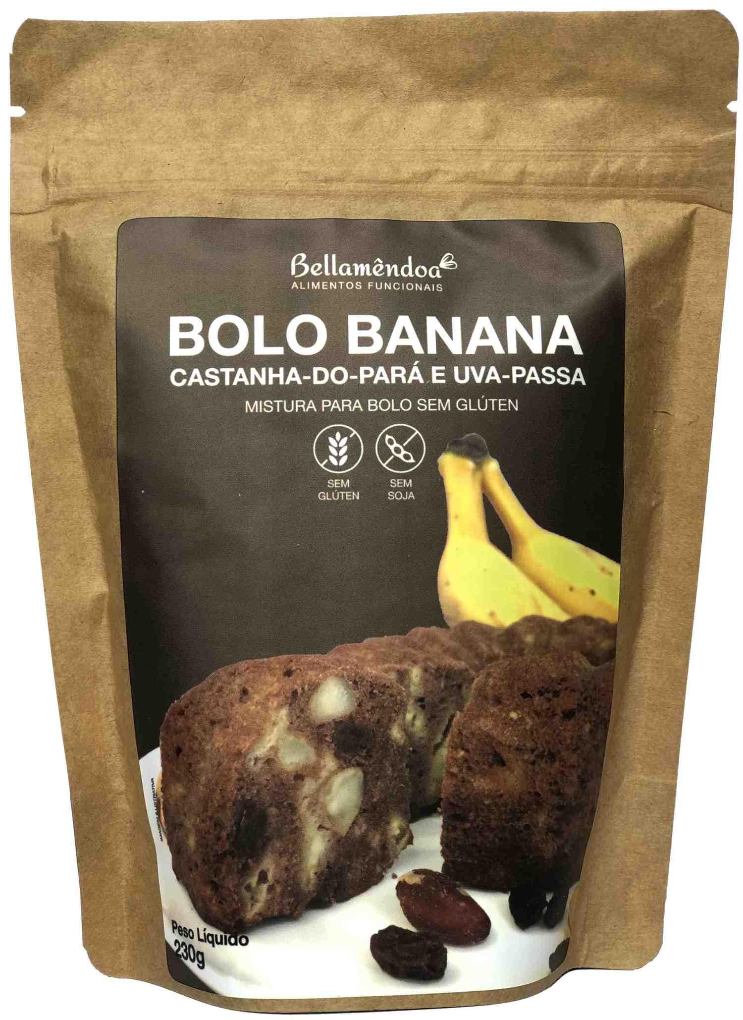 Mistura para Bolo Banana - Castanhas e Passas Bellamêndoa 230g