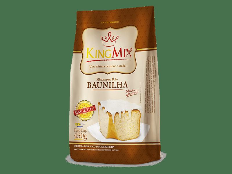 Mistura para bolo de baunilha King Mix 450g