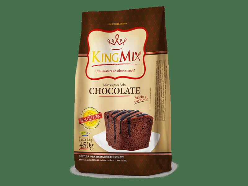 Mistura para bolo de chocolate King Mix 450g
