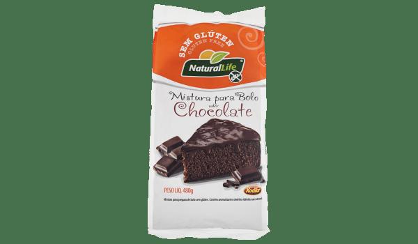 Mistura para bolo de chocolate Natural Life 480g