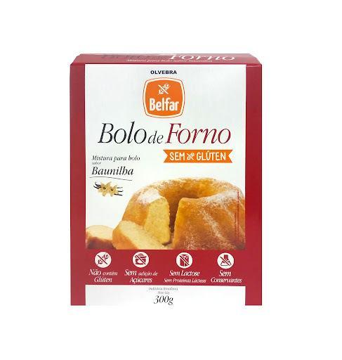 Mistura para bolo de forno sabor Baunilha Belfar 300g