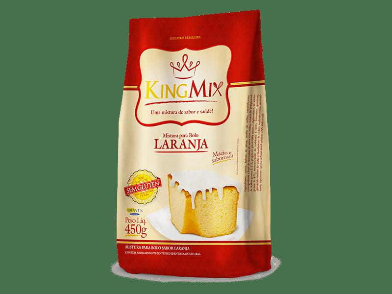 Mistura para bolo de laranja King Mix 450g
