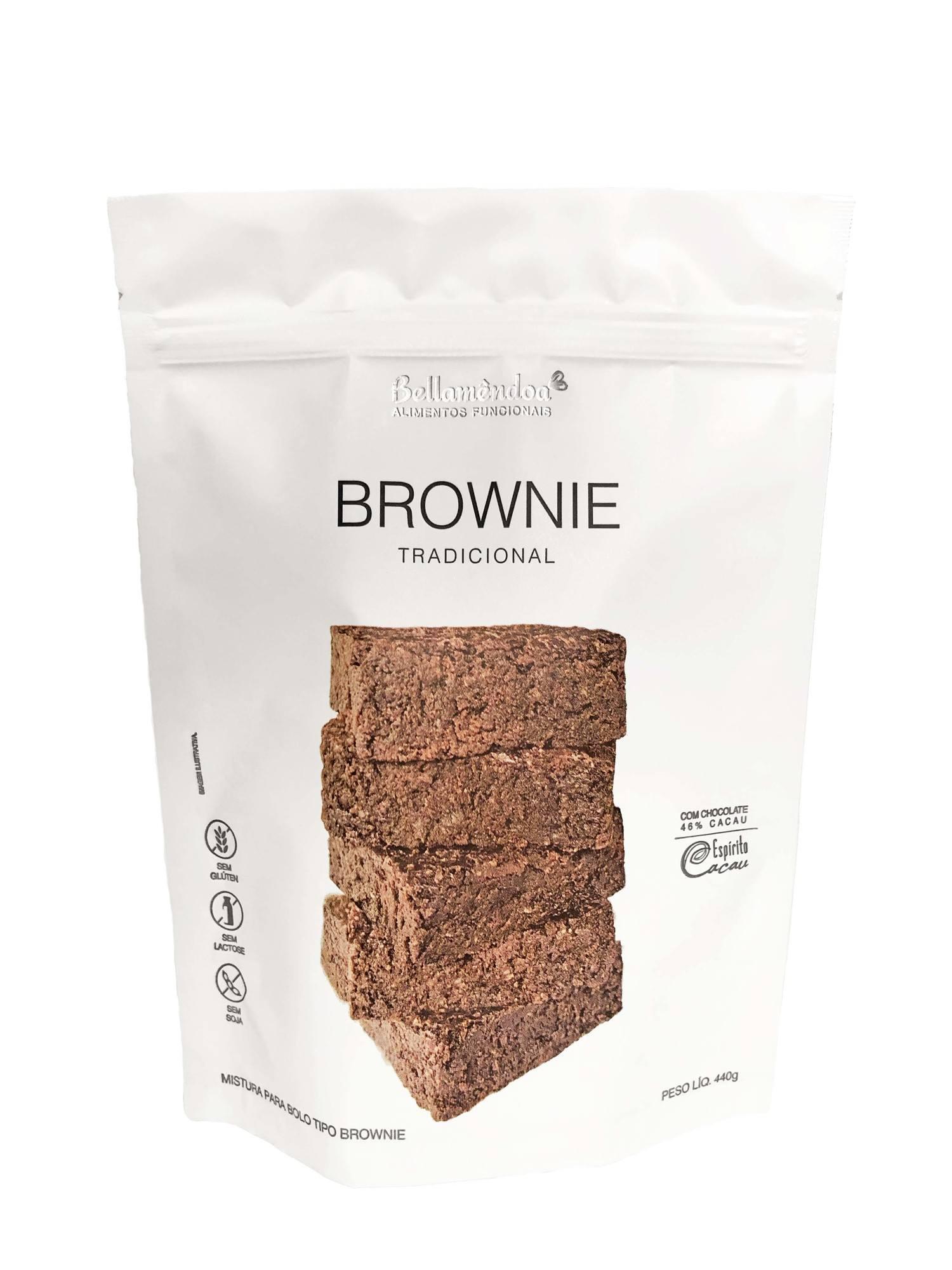 Mistura para Brownie Tradicional Bellamêndoa 440g