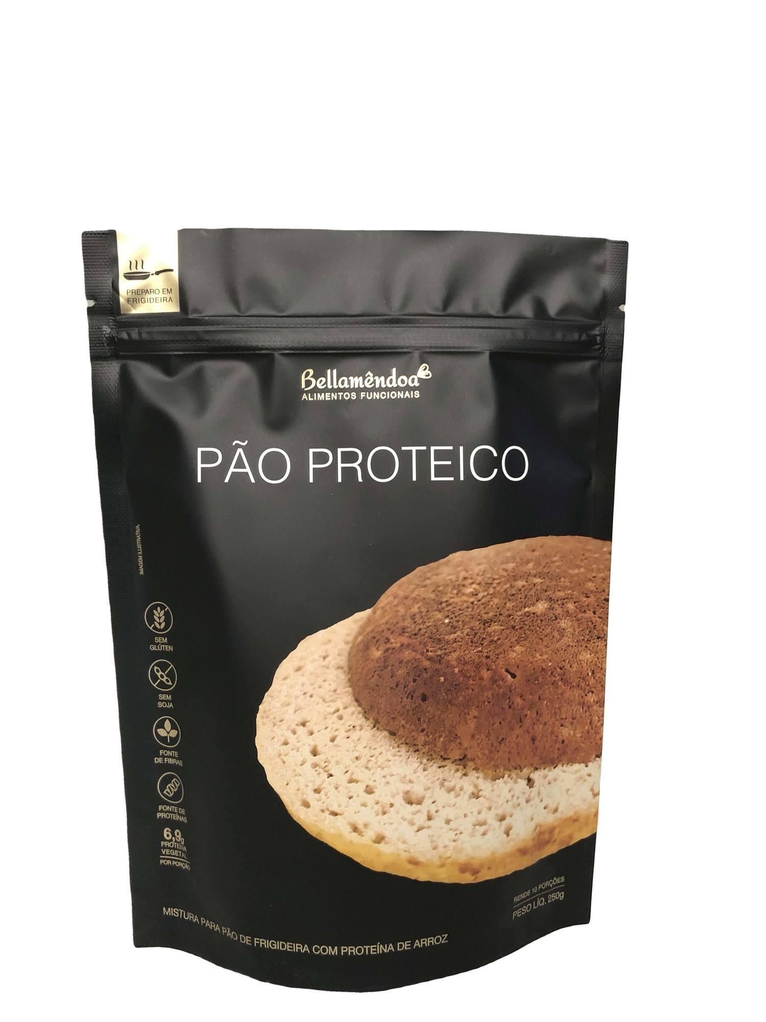 Mistura para Pão Proteico de Frigideira Bellamêndoa 250g (10 porções)