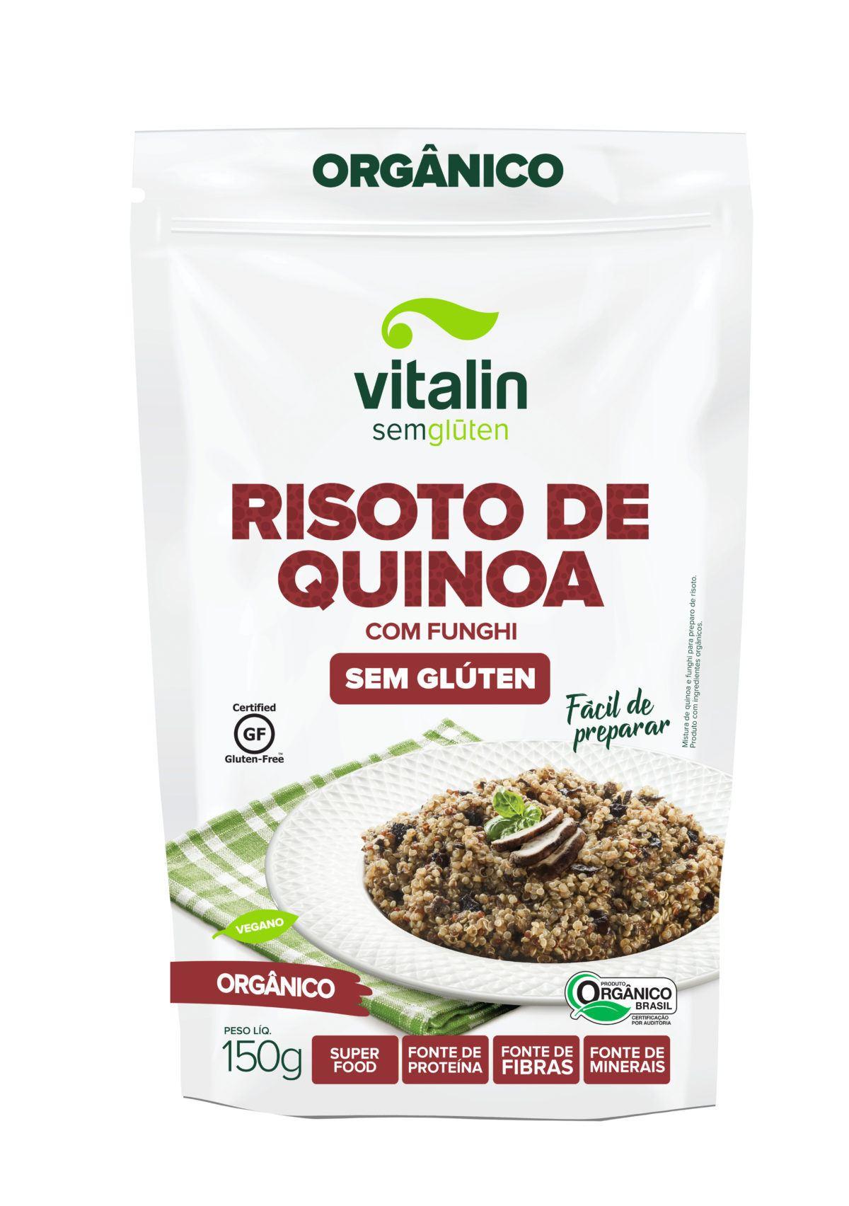 Mistura para risoto de quinoa com funghi orgânica Vitalin 150g