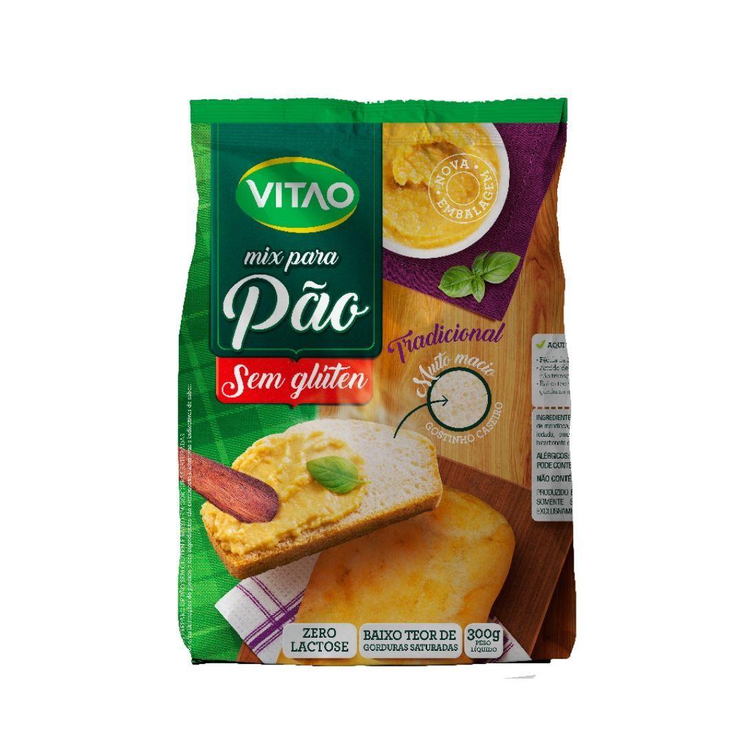 Mix Pão Sem Glúten Tradicional Vitao 300g
