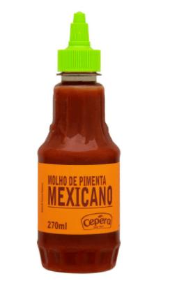 Molho de pimenta mexicano Cepêra 270ml