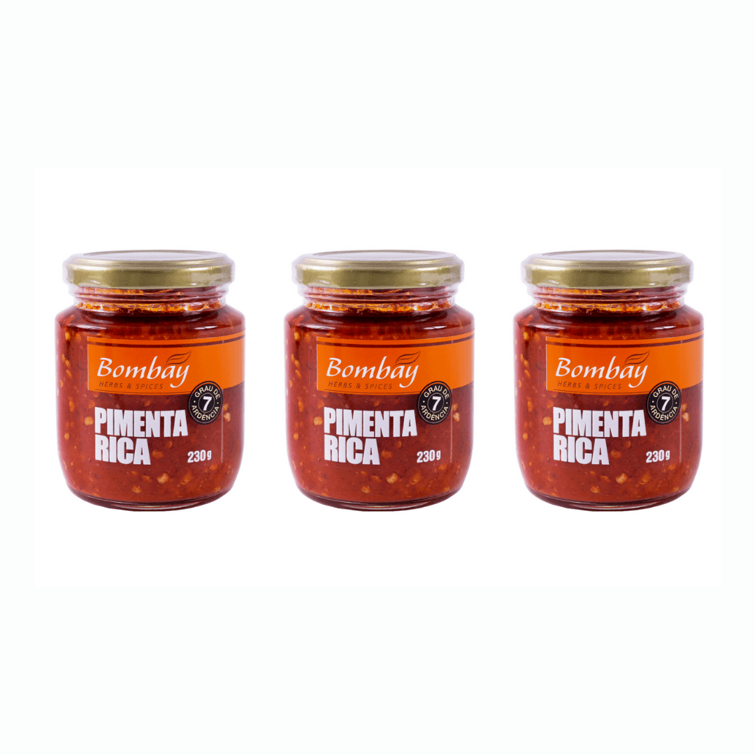 Molho de Pimenta Rica Chili 230g Bombay Kit com 3
