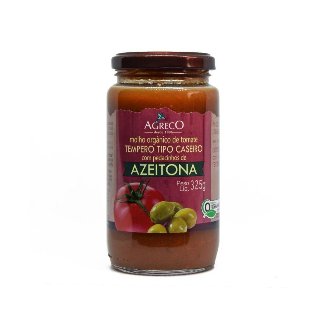 Molho de Tomate Com Azeitona Orgânico Agreco 325g