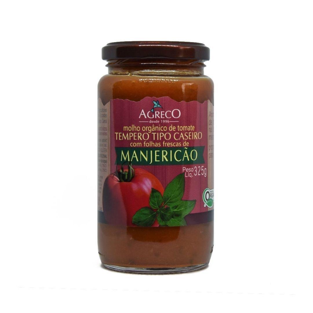 Molho de Tomate Com Manjericão Orgânico Agreco 325g