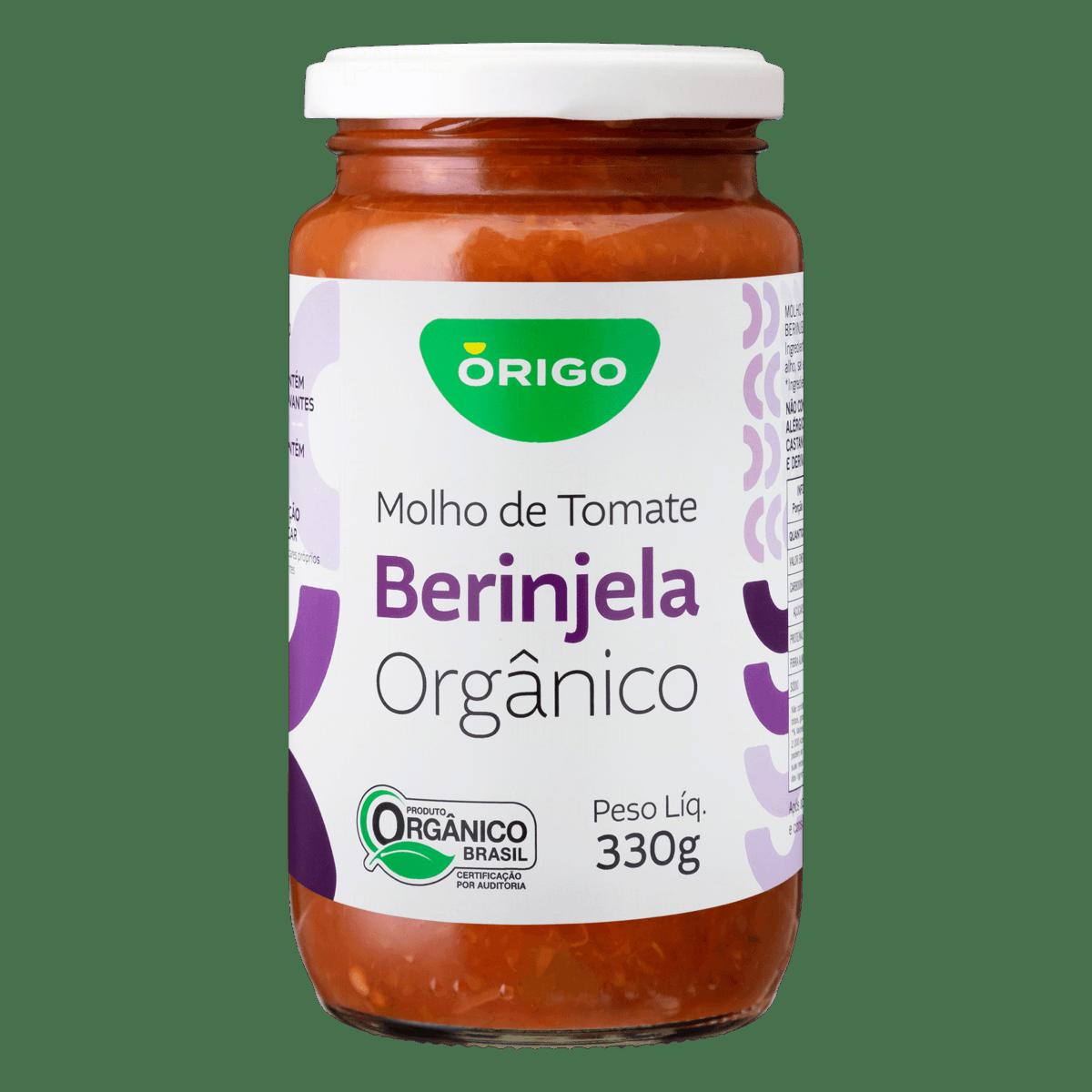 Molho de Tomate Orgânico Berinjela ÓRIGO Vidro 330g