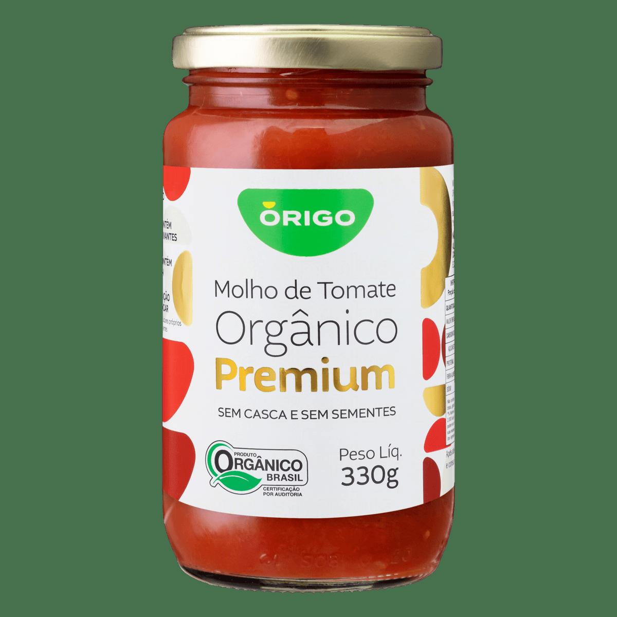 Molho de Tomate Orgânico ÓRIGO Premium Vidro 330g