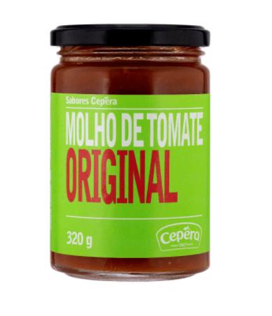Molho de tomate original Cepêra 320g
