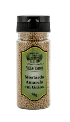 Mostarda amarela em grãos Villa Cerroni 75g