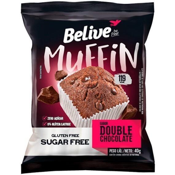 Muffin Double Chocolate sem açúcar Belive 40g