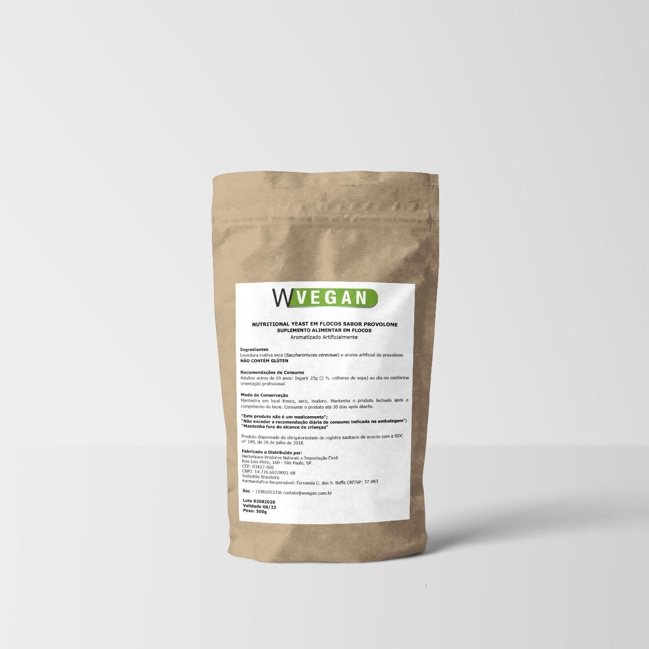 Nutritional Yeast Levedura em Flocos 500g ER WVegan - Provolone