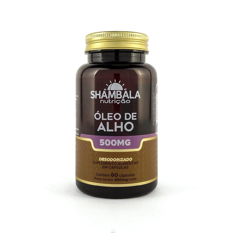 Óleo de alho desodorizado 500mg Shambala - 60 cápsulas