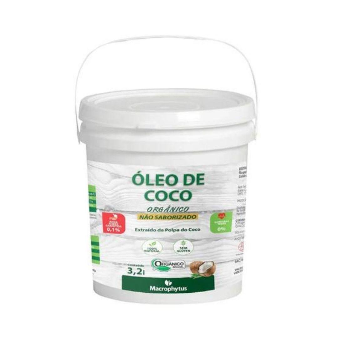 Óleo de Coco Sem Sabor  Macrophytus 3,2l