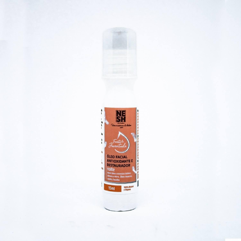 Óleo Facial Rollon Antioxidante/Restaurador 100% Natural Fonte da Juventude - Nesh Cosméticos 15 ml