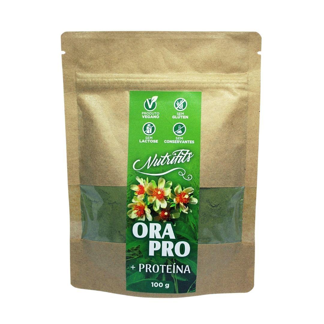 Ora-Pro-Nóbis em Pó + Proteina Nutrifits 100g