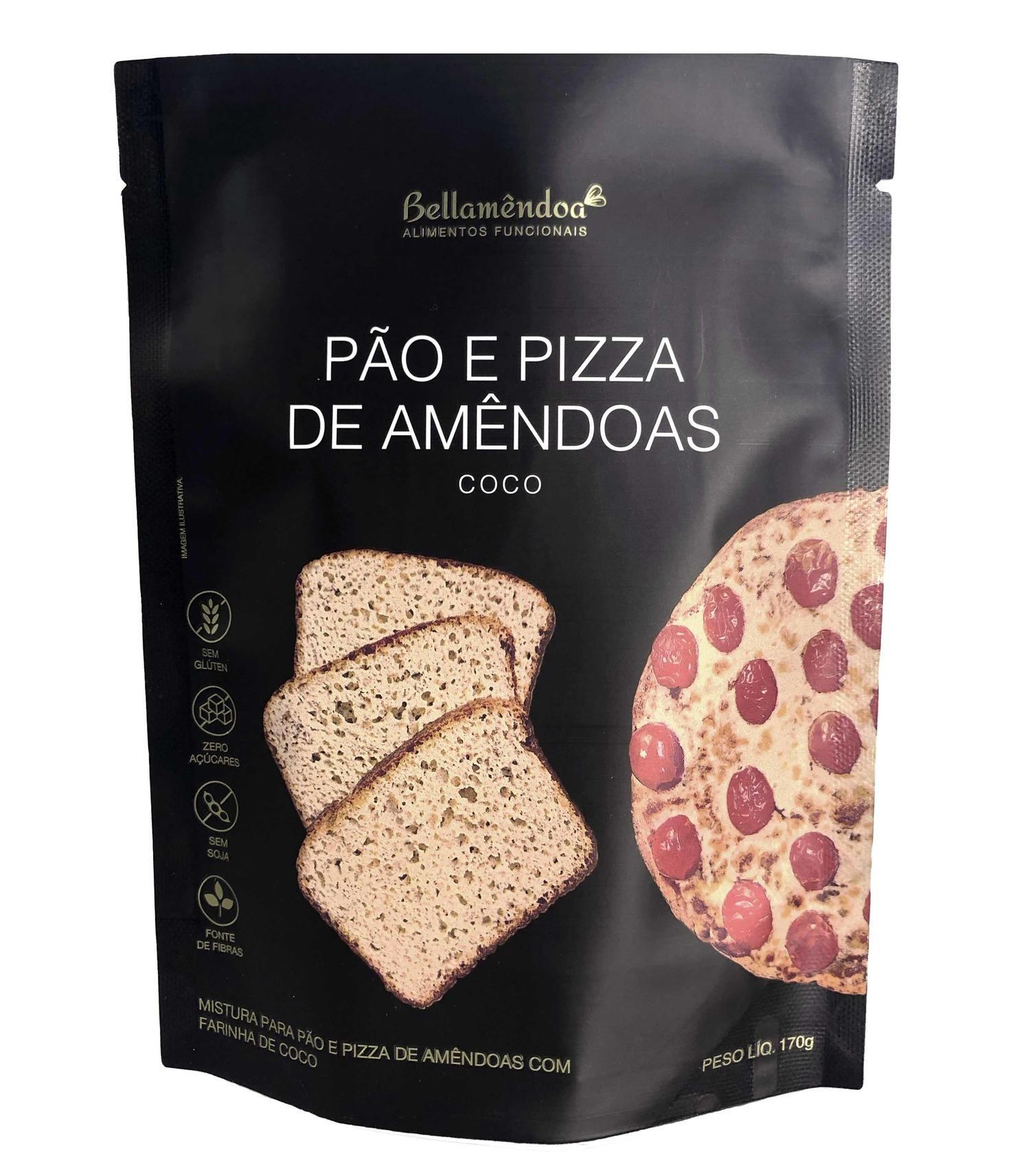 Mistura para Pão e Pizza de Amêndoas - Coco Bellamêndoa 170g