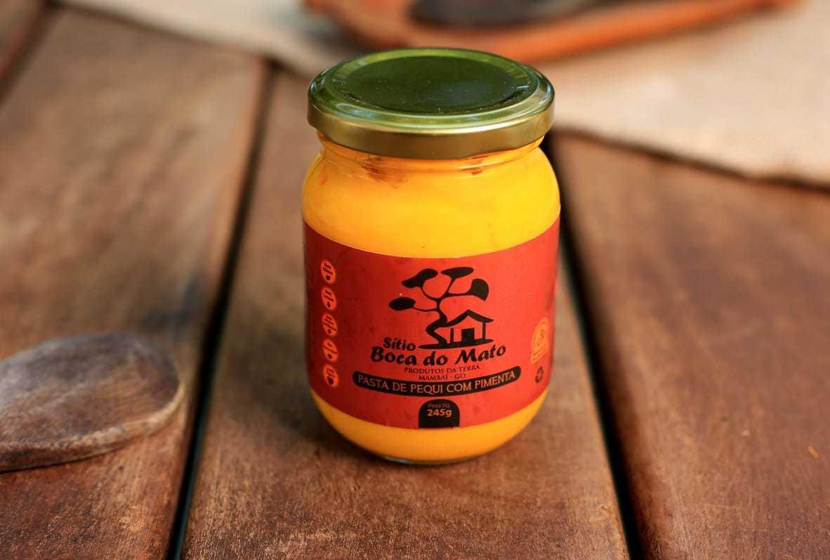 Pasta de Pequi com Pimenta  - Sítio Boca do Mato 245g