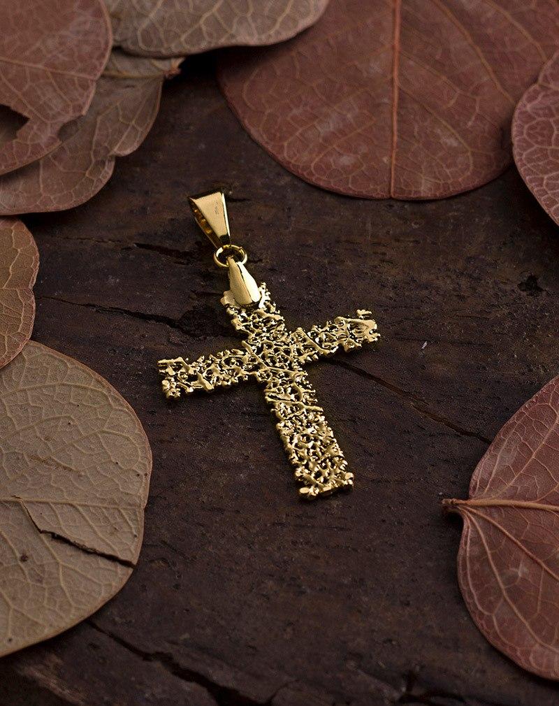 Pingente Folha do Cerrado - Formato Crucifixo