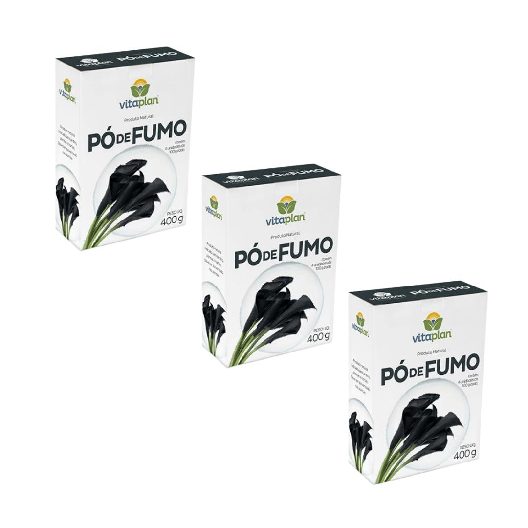 Pó de Fumo 100% Natural Nutriplan 400gr Kit com 3