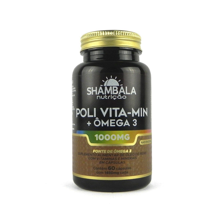 Poli vitaminas com ômega 3 Shambala 1000mg - 60 cápsulas