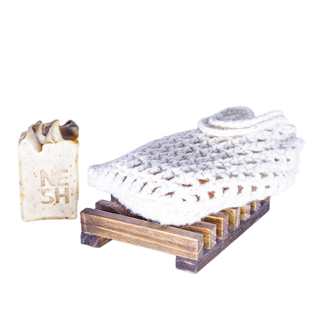 Multiuso - Porta Sabonete ou Shampoo ou Bucha Crochê para Banho - Nesh Cosméticos