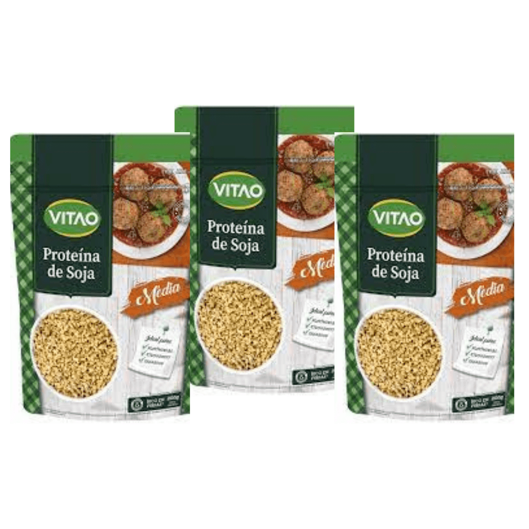 Proteína de Soja Vitao 200g Kit com 3