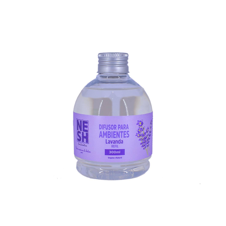 Refil Difusor de Ambiente Lavanda 100% Natural - Nesh Cosméticos 300 ml