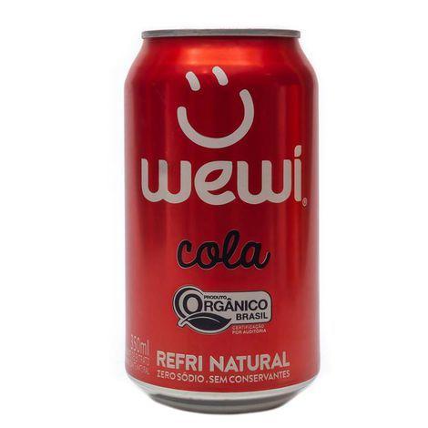 Refrigerante Organico Cola s/ Conservantes Wewi 350ml