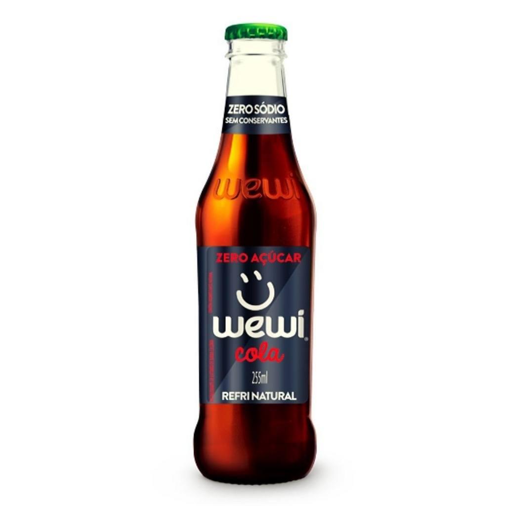 Refrigerante Orgânico Cola s Açúcar Wewi 100% Natural 255 ml