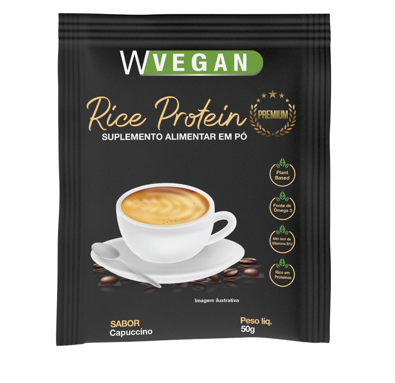 Rice Protein Premium 50g Sache Sabor Capuccino WVegan