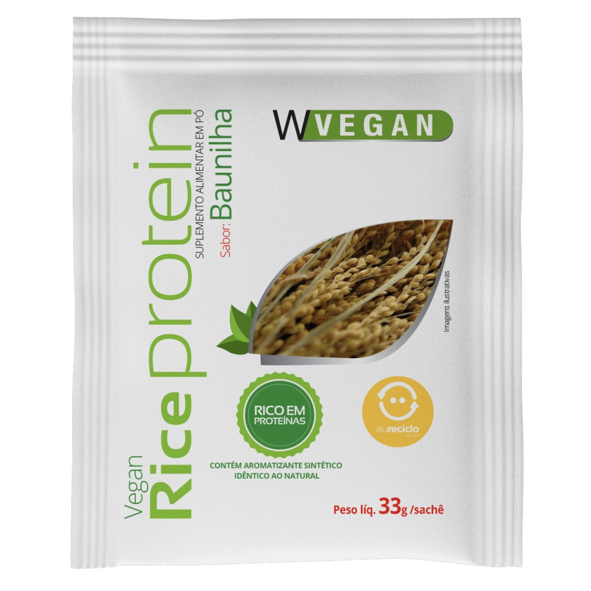 Rice Protein Sache Baunilha 33g WVegan