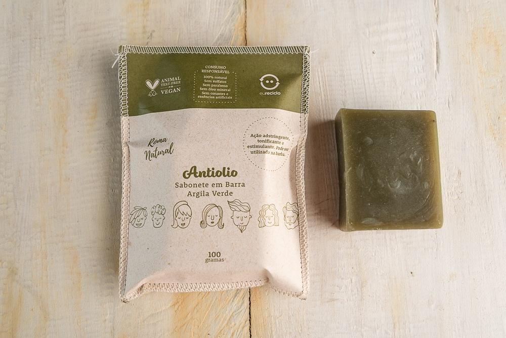 Sabonete Argila Verde Antiolio - Roma Natural