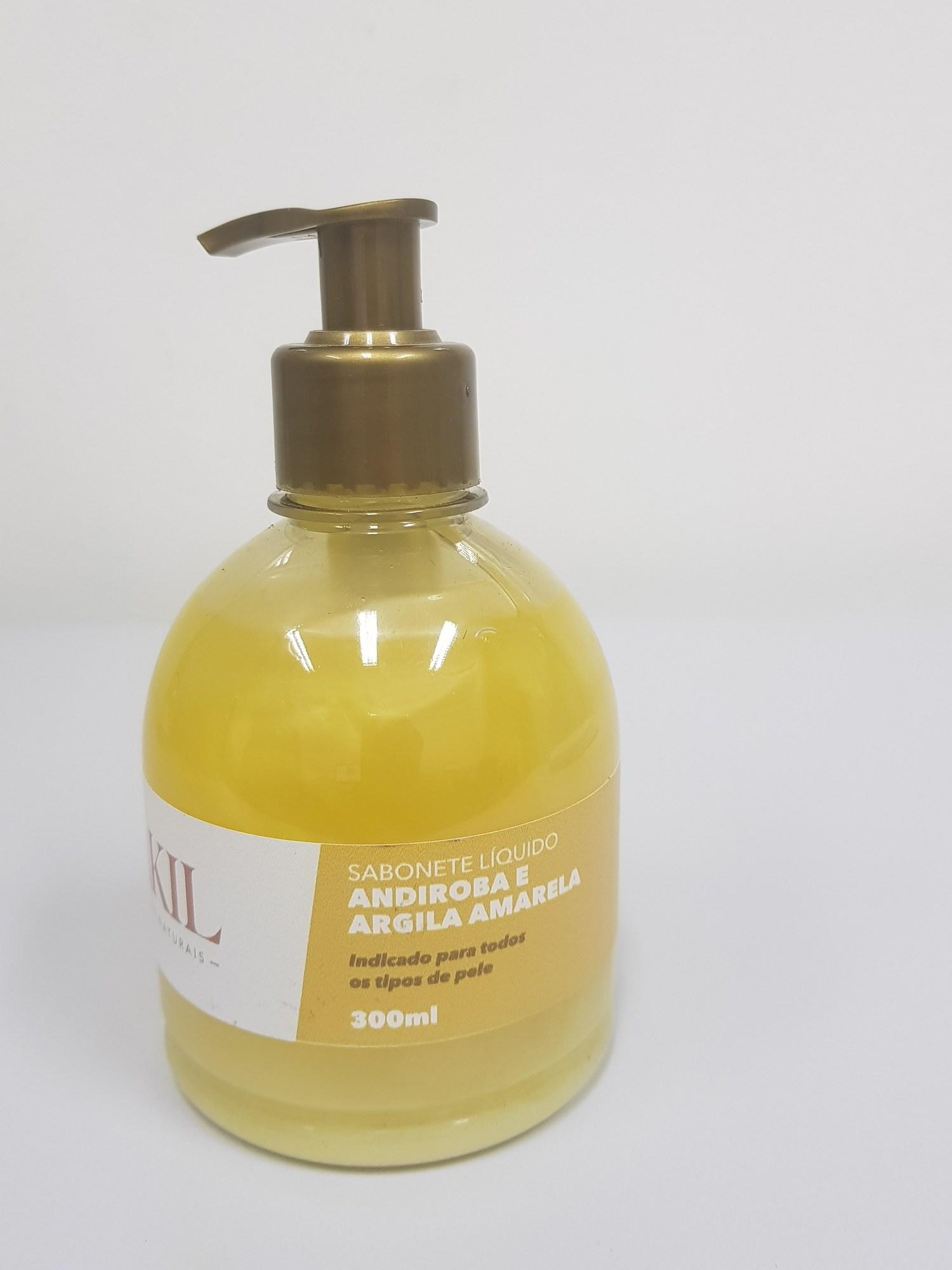 SABONETE LÍQUIDO ARGILA AMARELA ÓLEO DE ANDIROBA 300 ml