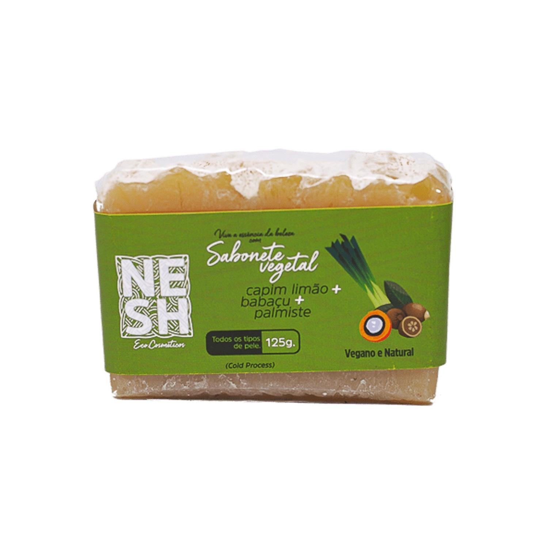 Sabonete Vegetal Capim Limão com Babaçu e Palmiste - Nesh Cosméticos 125g