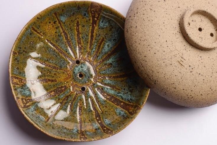 Saboneteira de Cerâmica - Roma Natural