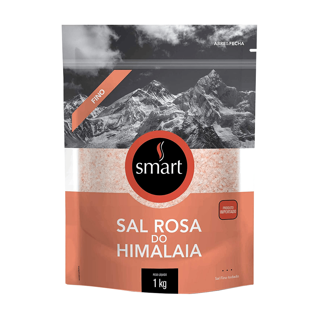 Sal Rosa do Himalaia Fino Smart Com 1Kg